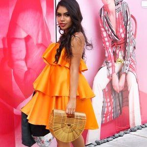Cute layered orange dress FALL